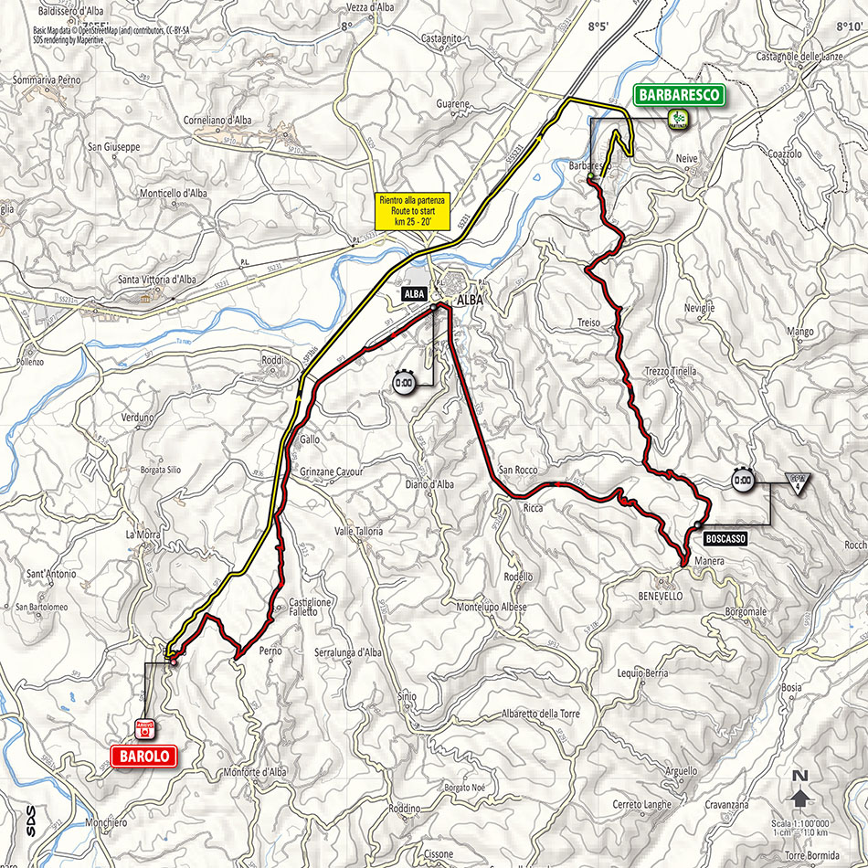 Stage 12 race route