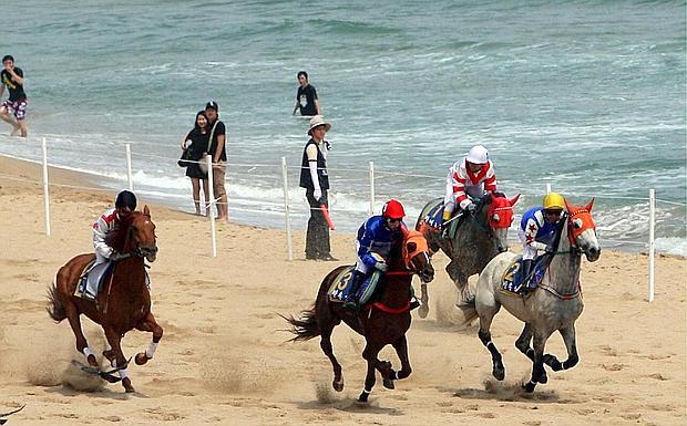 Cavalcare sulla sabbia foto del giorno ultime notizie for Giochi di cavalli da corsa