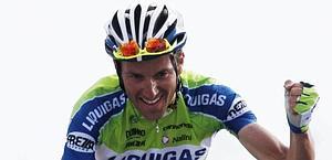 Ivan Basso vince la tappa dello Zoncolan. Ap