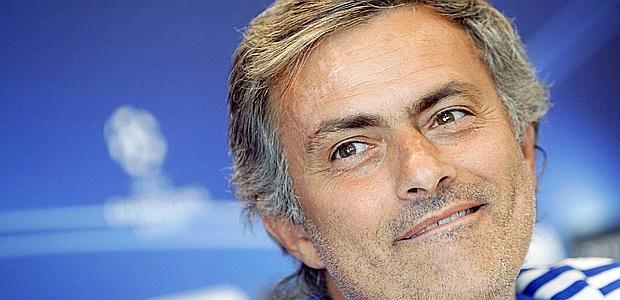 José Mourinho durante la conferenza stampa di oggi. Ap