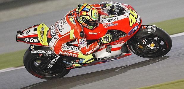 Valentino sulla Ducati in Qatar
