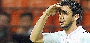 Il gesto di Javier Pastore dopo il suo gol. Ansa