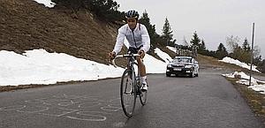 Alberto Contador sulle salite del Giro. Bettini