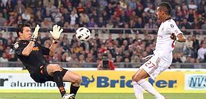 L'occasione di Boateng: palla a lato. Ansa