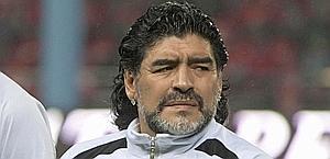 Diego Maradona, 50 anni, non allena da 10 mesi. Reuters
