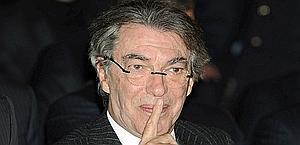 Il presidente dell'Inter, Massimo Moratti. Ansa