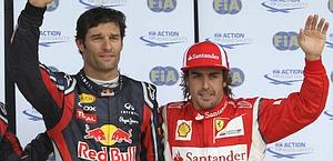 Webber (a sin) in pole, Alonso in agguato. Ap