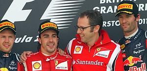 Da sin Vettel, Alonso, Domenicali e Webber. Ap