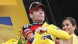 Cadel Evans, 34 anni, in giallo. Bettini