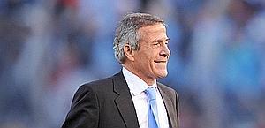 Il sorriso di Oscar Tabarez, il 'Maestro'. Afp