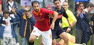 Mirko Vucinic, 27, nuovo acquisto Juve, qui in maglia Roma. Ansa