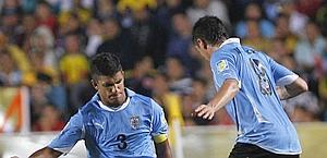 Diego Polenta (a sinistra), 19 anni, difensore del Genoa e dell'Uruguay U-20. Ap