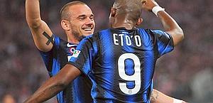 Samuel Eto'o e Wesley Sneijder: sono in lista di sbarco dall'Inter? Ansa