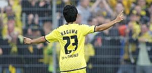 Shinji Kagawa, stella giapponese del Borussia Dortmund. Reuters