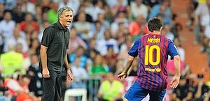 Messi vola via, Mourinho si agita. Afp