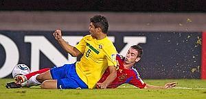 In azione contro la Spagna. Afp
