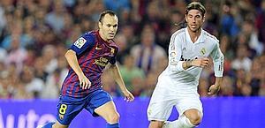 Duello Iniesta-Ramos. Afp