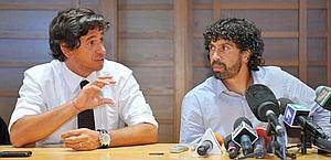 Demetrio Albertini e Damiano Tommasi. LaPresse
