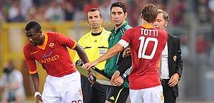 Francesco Totti sostituito da Luis Enrique. Ansa