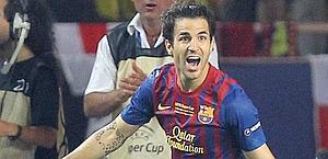 L'esultanza di Fabregas dopo il 2-0. Ap