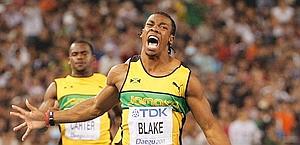 Tutta la gioia di Blake, neo-campione del mondo dei 100. Ap