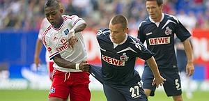 Elia in azione contro il Colonia. Afp