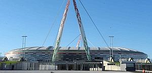 Lo stadio della Juve. Ansa