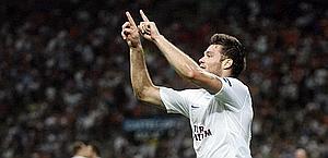 Celutska festeggia il gol della vittoria del Trabzon. Ansa