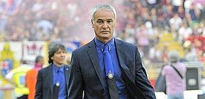 Claudio Ranieri, 59 anni, terza gara con l'Inter. Ansa