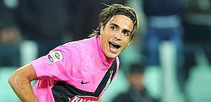 Alessandro Matri, 27 anni, autore del gol decisivo alla Fiorentina. Afp