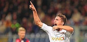 Fabio Borini, primo gol con la Roma. Ansa