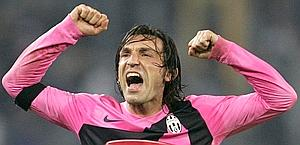 Pirlo exults at the end of the match. Ansa