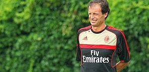Massimiliano Allegri, tecnico del Milan. Forte