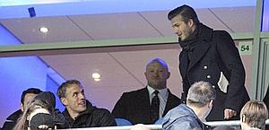 David Beckham in tribuna. Ap