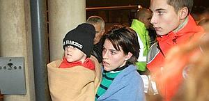 I superstiti francesi all'arrivo a Marsiglia. Ap