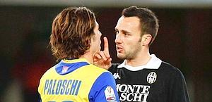 Faccia a faccia tra Terzi e Paloschi. Lapresse