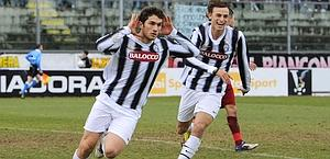 Padovan esulta dopo il suo gol. Sport Image
