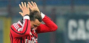 Zlatan Ibrahimovic, 30 anni. Ansa
