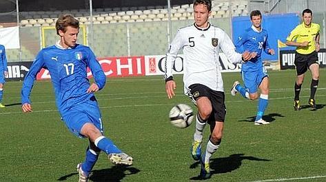 Il gol del 4-3 realizzato da Alessandro De Vitis: l'Italia Under 20 batte la Germania. Cautillo