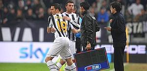 Bonucci sostituisce l'infortunato Barzagli. LaPresse