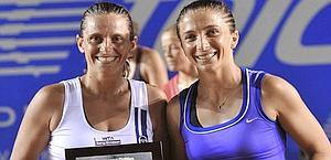Il doppio azzurro Roberta Vinci-Sara Errani, n. 3 al mondo. Epa