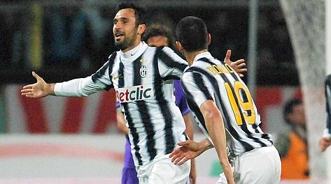 Mirko Vucinic, migliore in campo con Pirlo, ha segnato il 5° gol in campionato. LaPresse