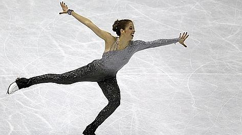Carolina Kostner nel libero che le ha dato l'oro. Reuters