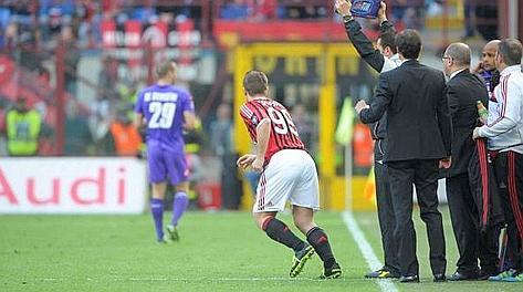 Il momento più bello: Cassano entra dopo 38 minuti e 4 secondi di Milan-Fiorentina.