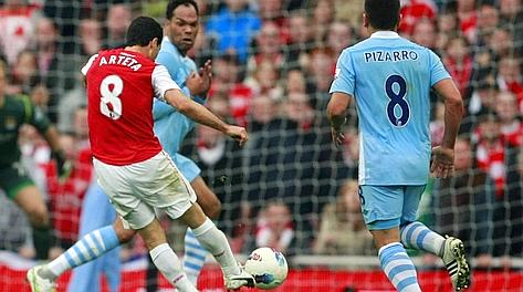 Arteta segna il gol-partita all'Emirates. Ap