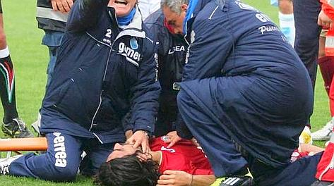 Morosini soccorso in campo. Pieranunzi 