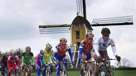 Le fasi iniziali dell'Amstel, nel tipico paesaggio olandese