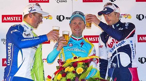 Sagan, Gasparotto e Vanendert: il podio dell'Amstel
