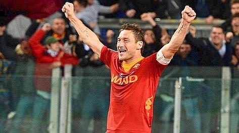 Francesco Totti, 35 anni, una vita nella Roma. Afp
