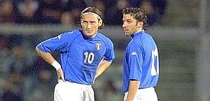 Totti e Del Piero insieme al Mondiale 2006. Ansa